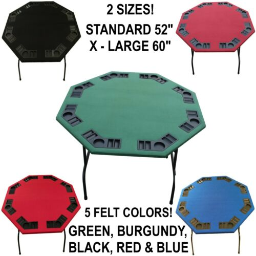 52 Or 60 Octagon Poker Tables W Folding Steel Legs For Texas Holdem Card Games
