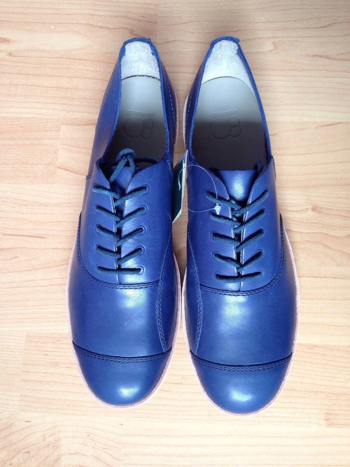 LACOSTE Schuhe Neu Sneakers Leder Blau Gr.42 Neu Schuhe c64c05