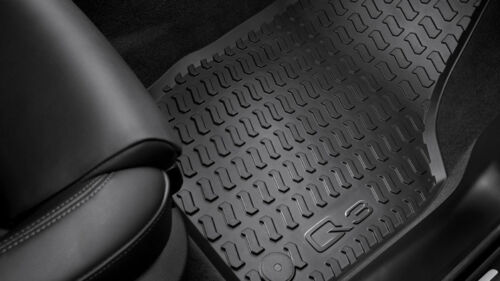 Original Audi Q3 RSQ3 Gummimatten Gummi Fußmatten vorne+hinten schwarz