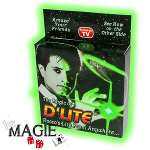 2-x-D-039-lite-VERT-1-Paire-Faux-pouce-Lumineux-Ghost-light-Tour-de-Magie