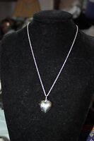 Genuine Links Of London 925 Silver Large Heart Keepsake Locket Necklace - 40 Cm