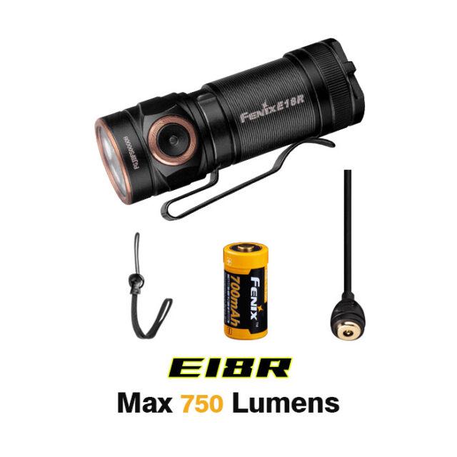 Fenix E18r 750 Lumen Ultra Compact Rechargeable Flashlight for sale online