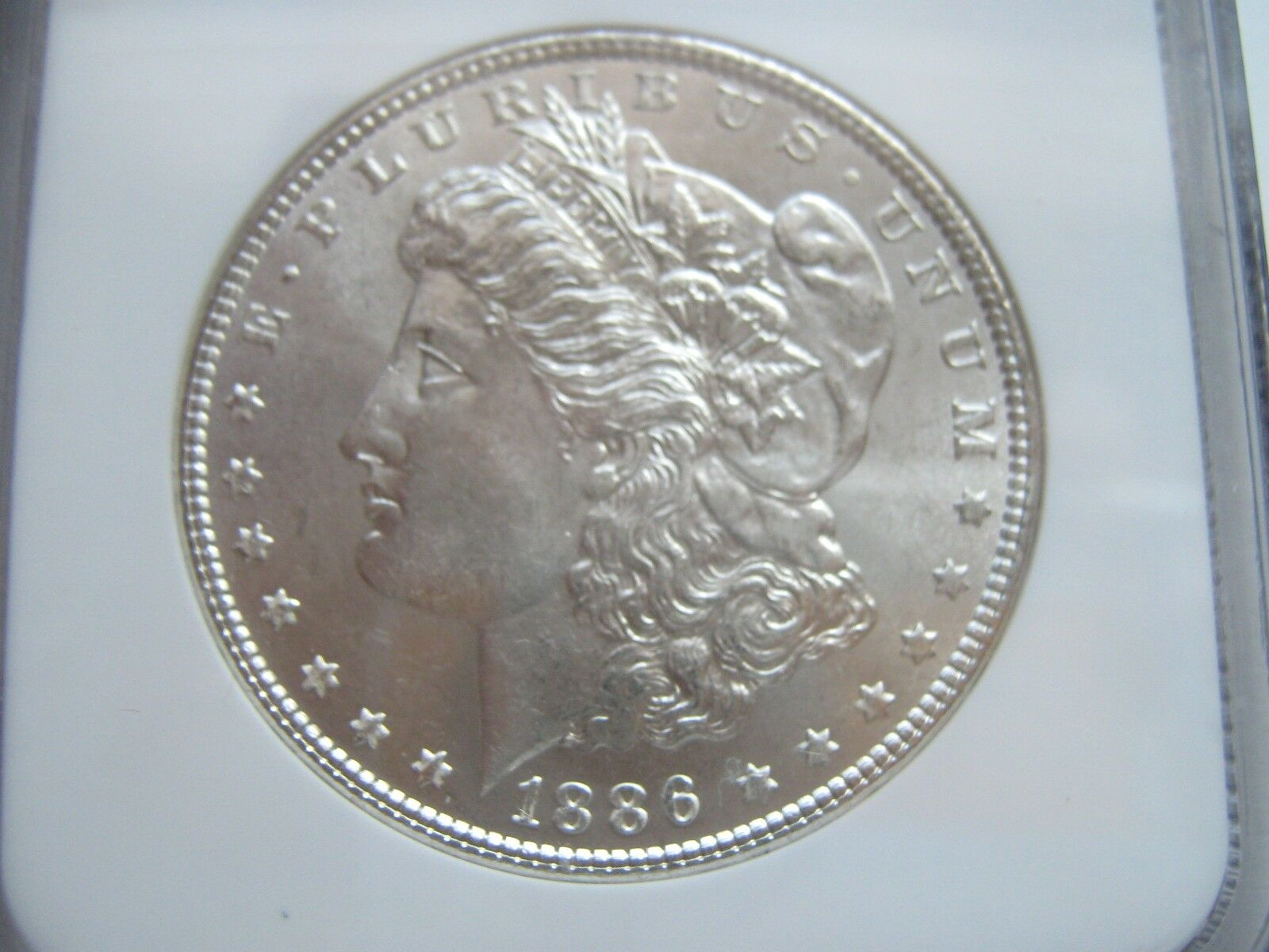 1886 , Morgan Silver Dollar , NGC , MS 64
