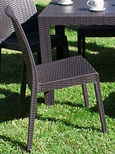 Sedie Da Giardino Resina.Sedia Da Giardino Resina Simil Effetto Rattan Per Bar Locali Pub