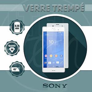 Vitre-Film-de-PROTECTION-d-039-ecran-en-VERRE-Trempe-pour-SONY-Xperia-Qualite-9H