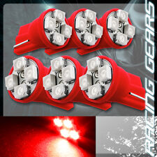 6x For Mitsubishi Red SMD 4 LED T10 Wedge Interior Map Panel Gauge Light Bulbs