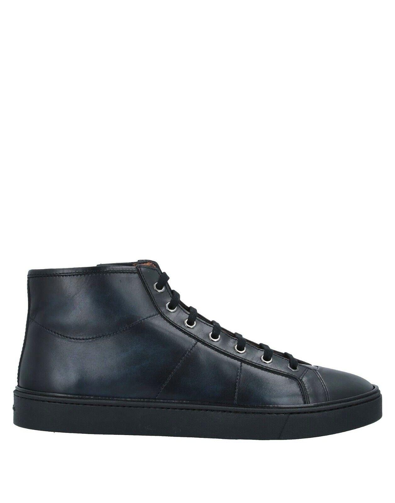 NIB Santoni Antiqued Calf Leather Laces/Zip Mens Sneakers US 11.5-12/UK 11