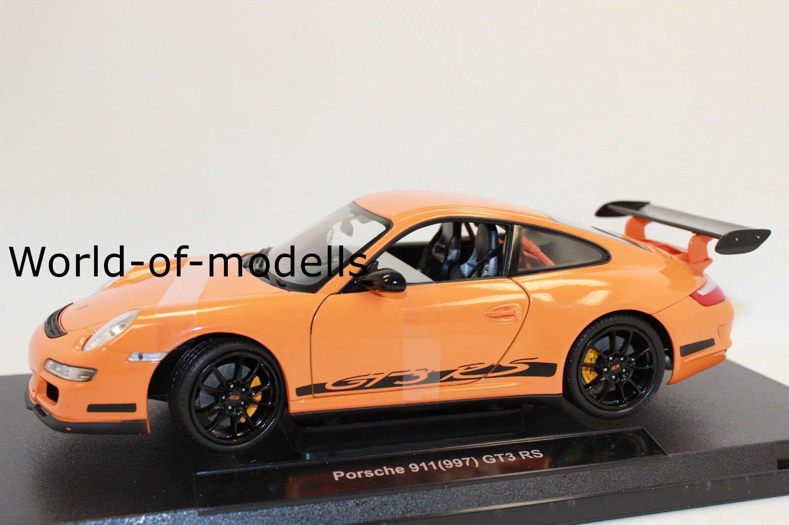 Welly 18015 OR PORSCHE 911 997 GT 3 RS 1 18 NUEVO EN emb.orig.