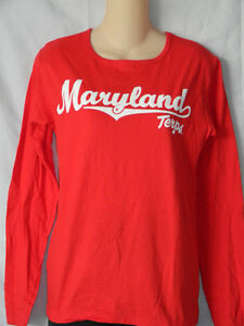 NEW University of Maryland Terrapins T-Shirt Women s Football Top ... 2bb3558b1b