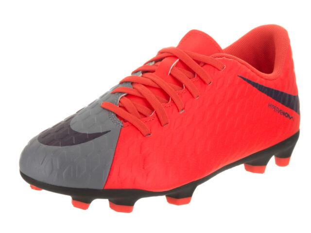 buy popular f860a ad563 Nike Kids Jr Hypervenom Phade Iii Fg Cool GreyPurple Dynasty Soccer Cleat  4.5