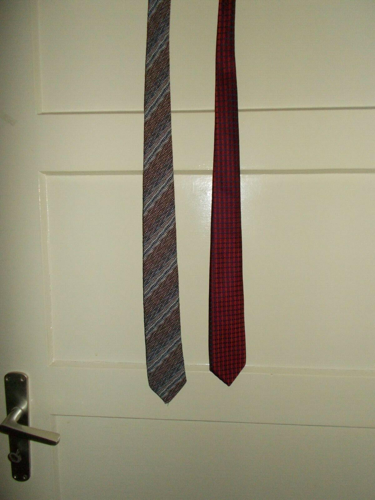 2 Krawatten - Vintage - Orbis,Attilio