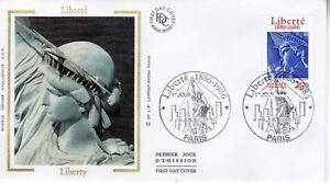 Enveloppe-Premier-Jour-France-Statue-de-la-Liberte-1986-First-Day-Liberty-Timbre