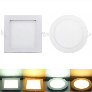 3-24W Ultraslim LED Panel Leuchte Deckenleuchte Einbaustrahler Weiß mit Trafo Do
