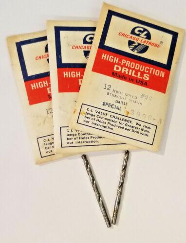 """118 Deg USA Drill Bits Pt 2-5//32/"""" OAL Chicago-Latrobe 3 Dozen #26 HSS"""