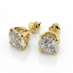 0-50-Cts-Runde-Brilliant-Cut-Natuerliche-Diamanten-Ohrstecker-In-Feines-14K-Gold