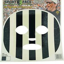 Schwarz Weiße Streifen Gesicht Transferdruck Maske Party Kostüm Temporäre