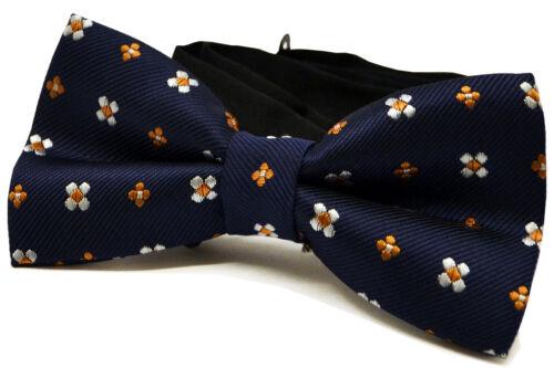Réglable Bleu Hommes Nœud Papillon Avec Floral Parti Occasions Formelles Hommes Col Nœud Papillon