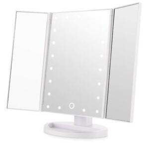 Large Tri Fold Led Mirror With Light Illuminated Make Up