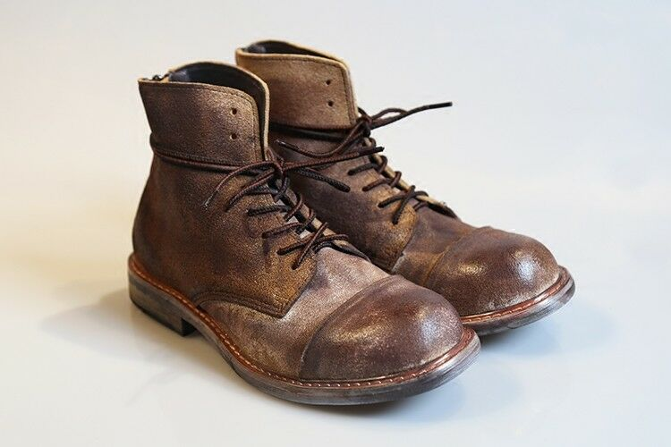 Vintages Men Brush Old Leather High Tops Army Combat Boots Retro Riding shoes