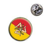 Flag Of Sicily Lapel Hat Tie Pin Tack