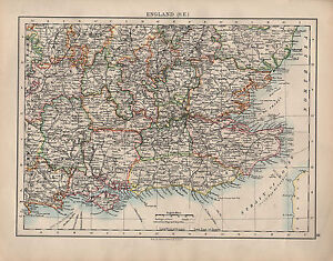 image is loading 1902 map england south east sussex surrey kent