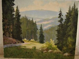 VINTAGE RUSSIAN  PAINTING OIL SIGNED Arseny Meshchersky Switzerland