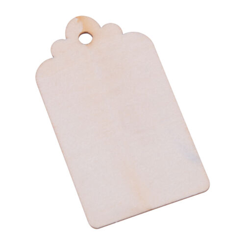 100x Wood Gift Tags Blank Hanging Wooden Label for Wedding Party Craft Decor DIY