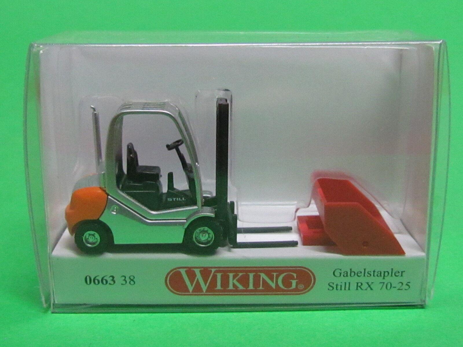 Wiking 066338 H0 Gabelstapler Still RX 70-25 mit Schaufel