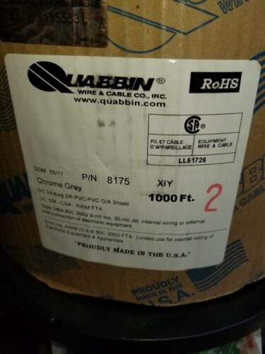 24//5 shield wire 1000 ft rolls 5 conductor 24 gauge brand NEW Quabbin control
