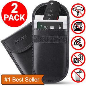 2-x-Car-Key-Signal-Blocker-Case-Faraday-Cage-Fob-Pouch-Keyless-RFID-Blocking-Bag