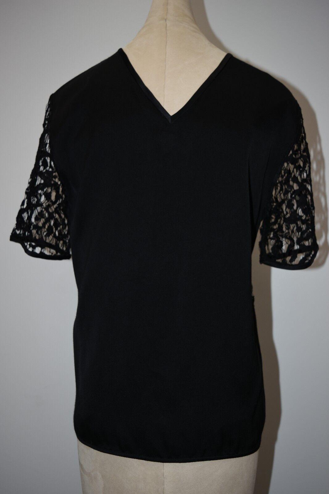 Maiyet Pizzo T Shirt Top Camicetta Nero 42 42 42 984892