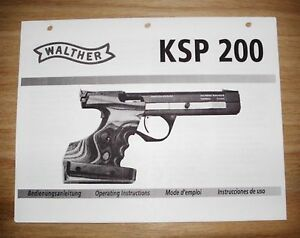 walther ksp 200 owners manual m1 ebay rh ebay com Service Station Repair Manuals
