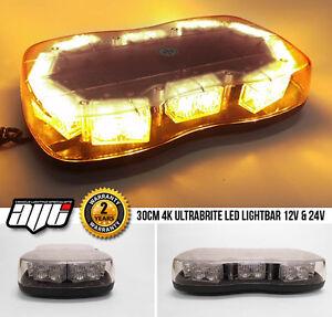 12v-24v-Clear-LED-LIGHTBAR-Recovery-Flashing-Warning-Hazard-Light-Bar-Beacon