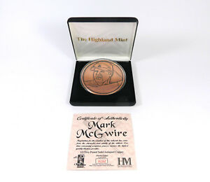 Highland-Mint-Mark-McGwire-1-2-lb-Copper-Coin-out-of-2-500
