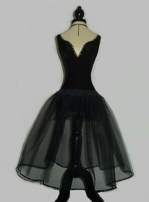 BLACK NET PETTICOAT - UK Custom Made - PROM 50s VINTAGE BALL SKIRT ROCKABILLY