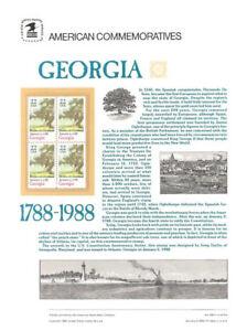 299-22c-Georgia-Statehood-2339-USPS-Commemorative-Stamp-Panel