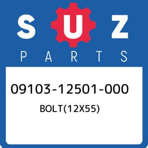 09103-12501-000-Suzuki-Bolt-12x55-0910312501000-New-Genuine-OEM-Part