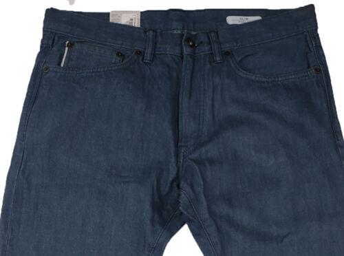 NUOVA linea uomo Marks & Spencer Blu Jeans SLIM VITA 34 Gamba 31/vita 32 Gamba 33