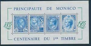 Monaco Block 31 postfrisch / **, 100 Jahre Briefmarken von Monaco (29612) - Spahnharrenstätte, Deutschland - Monaco Block 31 postfrisch / **, 100 Jahre Briefmarken von Monaco (29612) - Spahnharrenstätte, Deutschland