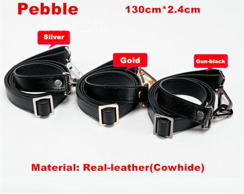 LEATHER Purse Strap Adjustable Crossbody Shoulder Replacement Handbag BLACK NEW