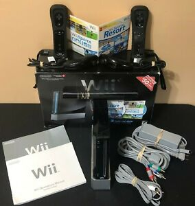Wii-Black-Console-Wii-Sports-Sports-Resort-2-Controllers-w-Motion-Plus-In-Box