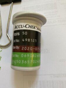 50-count-No-Box-ACCU-CHEK-Aviva-Plus-Test-Strips-Retail-Vial-Exp-9-30-2020