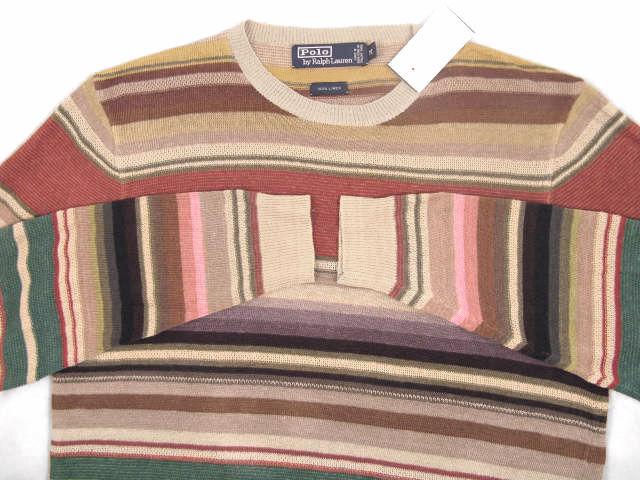NEW   Polo Ralph Lauren Pure Linen Sweater   XL  Farbeful Southwestern Stripes