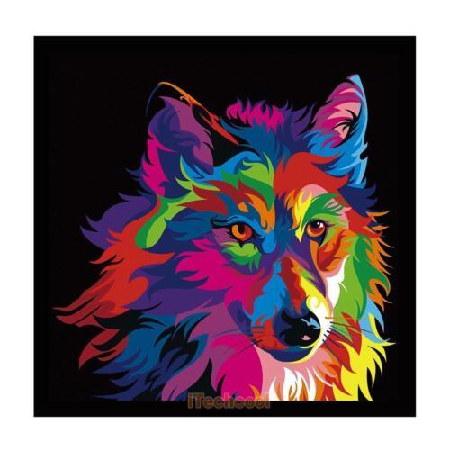 DIY 5D Diamond Painting Embroidery Wolf Cross Crafts Stitch Kit Home Decor Craft