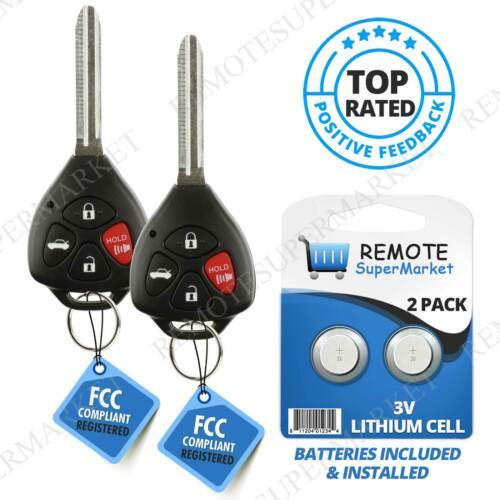 2 For 2010 2011 2012 2013 Toyota Corolla Venza Keyless Car Remote Uncut Key Fob