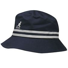 NUOVO 2017 Kangol Cappelli STRIPE Bucket Hat-Estate Navy BNWT RRP £ 34,99 PAC