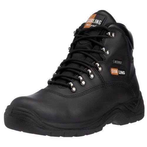 IMPERMEABILE Sterling Nero Sicurezza Escursionista Work Boots. STEEL TOE e intersuola SS812SM