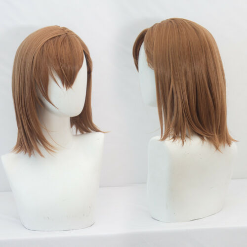 Toaru Majutsu no Index Misaka Mikoto Cosplay Anime Costume Wig Free CAP+Track