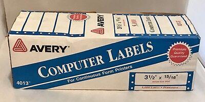 Box of 5,000 Pressure-Sensitive Labels Linco White Pinfed Continuous 2 3//4 x 1 15//16