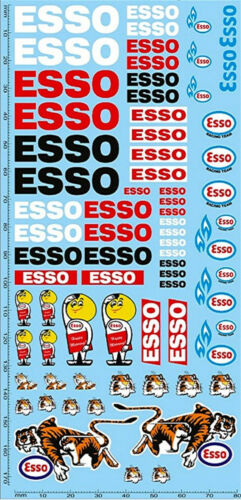 Esso Sponsoren Decal PP07-1 1:24 Decal Abziehbilder 195 x 90 mm